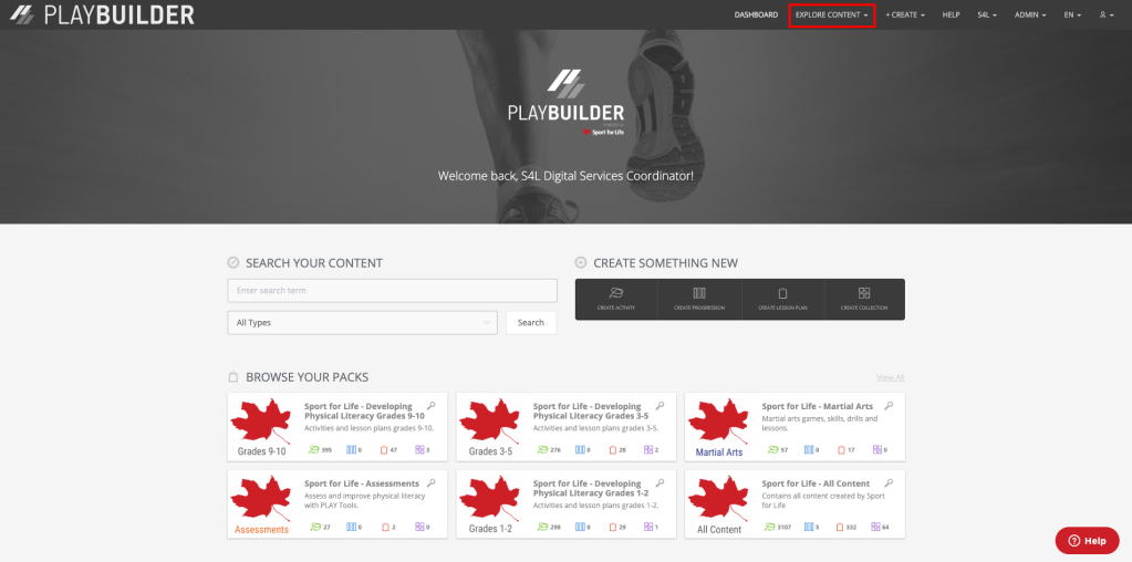 How to search for content on playbuilder